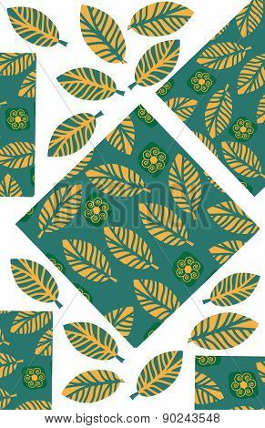 Odd Geometric And Floral Background For Design Shirts, Clothes, Apparel, Dishes  And Other Purposes,