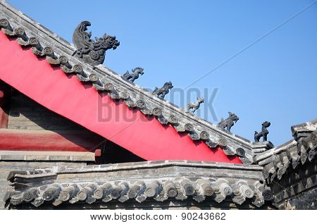 Chinese style roof at Confucius Temple