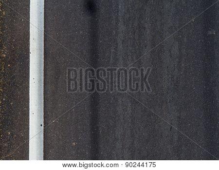 New Asphalt Texture With White Line