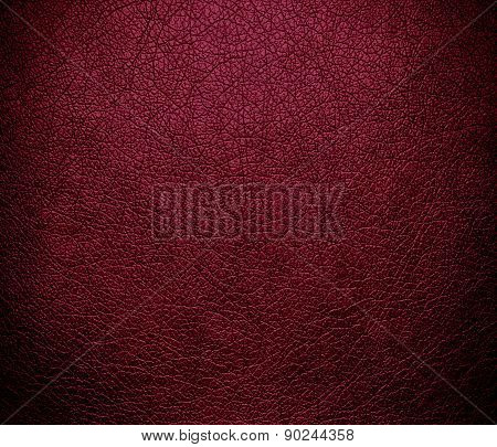 Claret color leather texture background