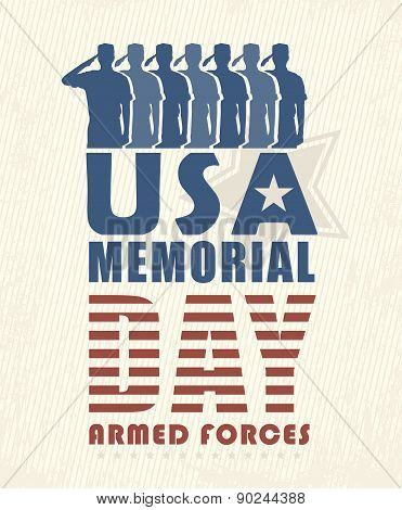 America USA Memorial Day Patriotic Vector
