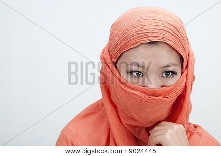 Portrait If An Islamic Women