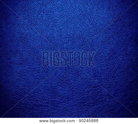 Cobalt blue color leather texture background