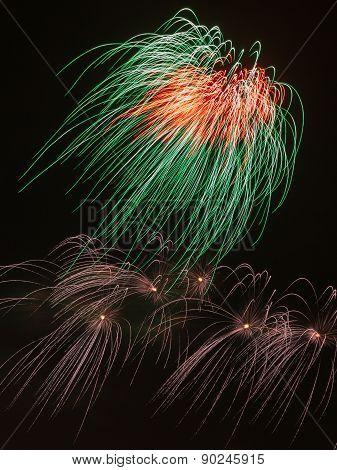 Tricolor Bright Fireworks