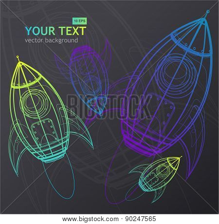 Vector rocket background