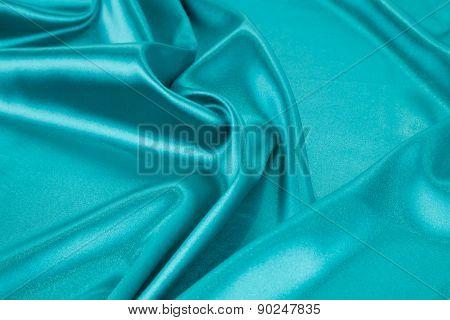 Blue light silk texture cloth.