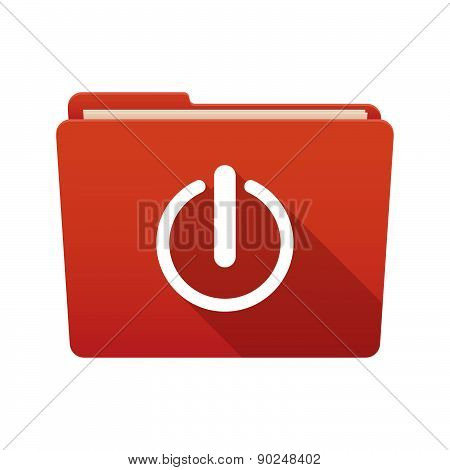 Folder Icon With An Off Button