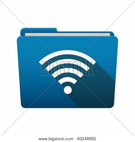 Folder Icon With A Radio Signal