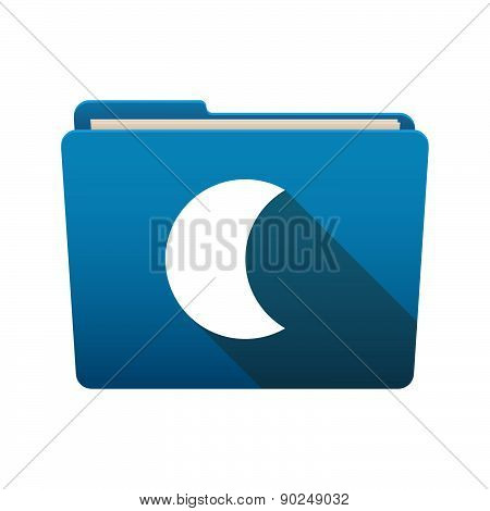 Folder Icon With A Moon