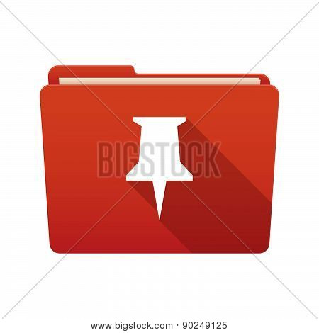 Folder Icon With A Push Pin