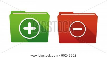 Folder Icon Set With Math Signs
