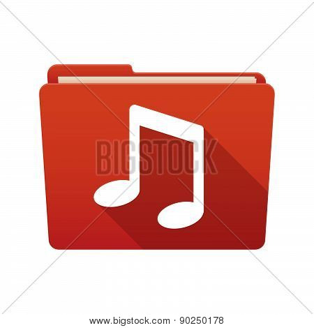 Folder Icon With A Music Note