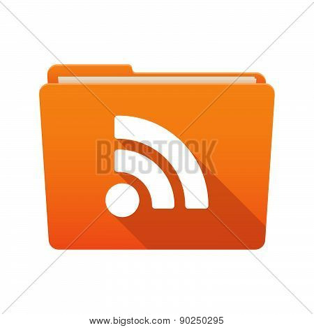 Folder Icon With A Rss Feed Sign