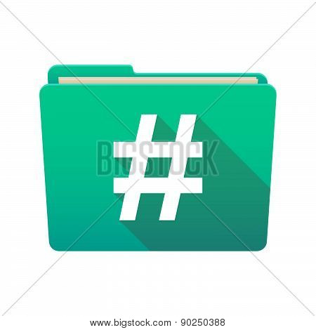 Folder Icon With A Hash Tag