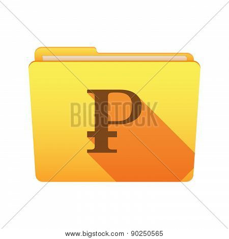 Folder Icon With A Ruble Sign