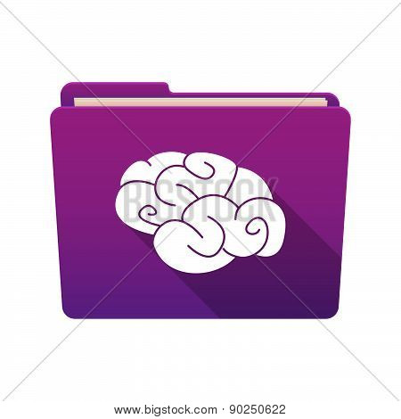 Folder Icon With A Brain