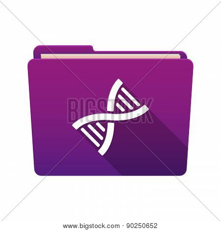 Folder Icon With A  Dna Sign