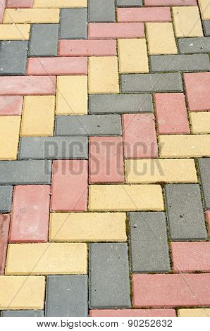 Colored Paving