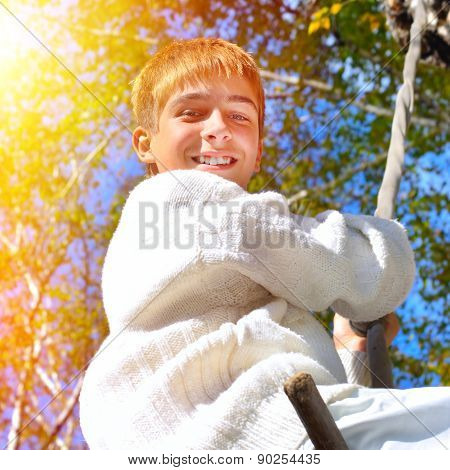 Happy Teenager Outdoor