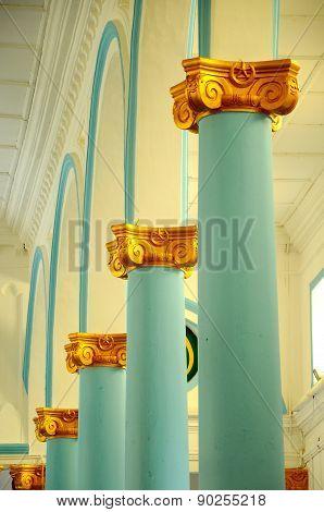 Architectural detail at The Sultan Ibrahim Jamek Mosque at Muar, Johor
