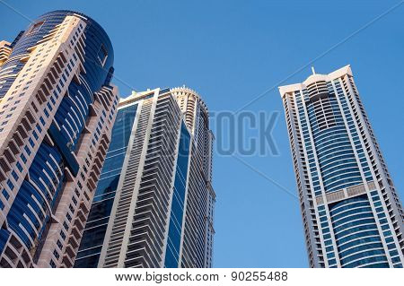 Abstract Business Background With Office Building Skyscrapers