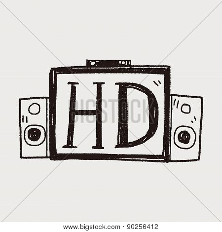 Hd Tv Doodle