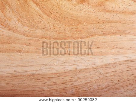 Wood Brown Texture Background With Water Drops