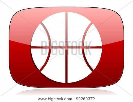 ball red glossy web icon