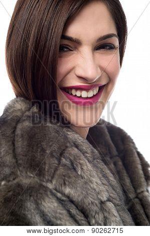 Trendy Woman Looking At Camera