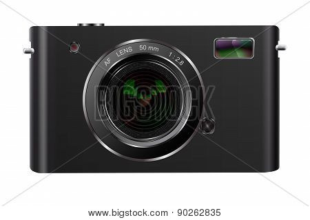 Abstract Digital Photo Camera Isolated On White