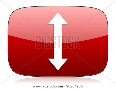 arrow red glossy web icon
