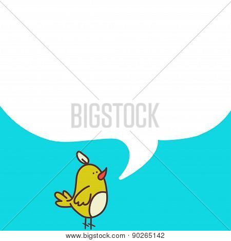 Bird With A Speech Bubble