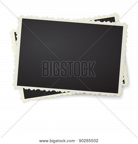 Vector Photo In Retro Frame Isolated