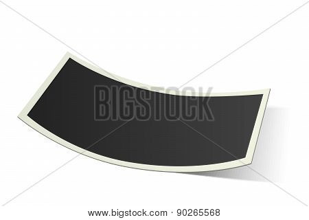 Vector Curved Photo Frame Isolated On White Background