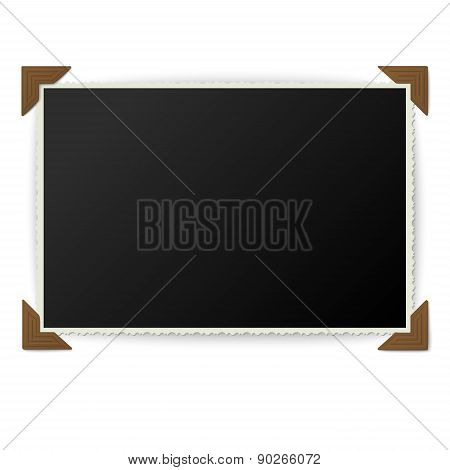 Old Photo With Corners Isolated On White Background