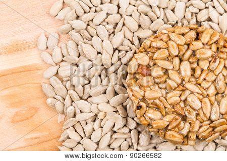 Sunflower seeds in sugar syrup.