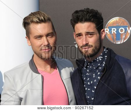 LOS ANGELES - MAY 9:  Lance Bass, Michael Turchin at the