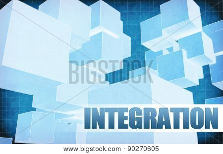 Integration on Futuristic Abstract for Presentation Slide