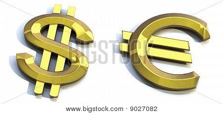 Gold Dollar, Gold Euro