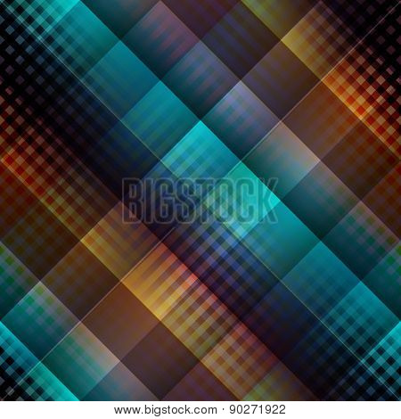 Dark diagonal plaid pattern.