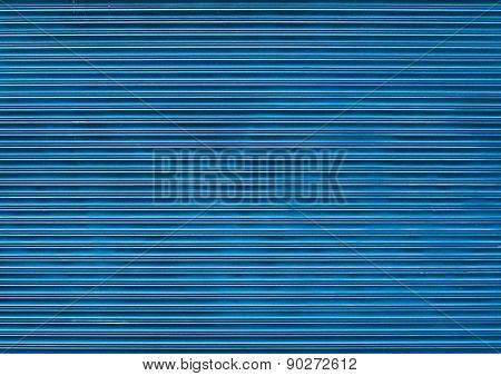 Blue wooden blind