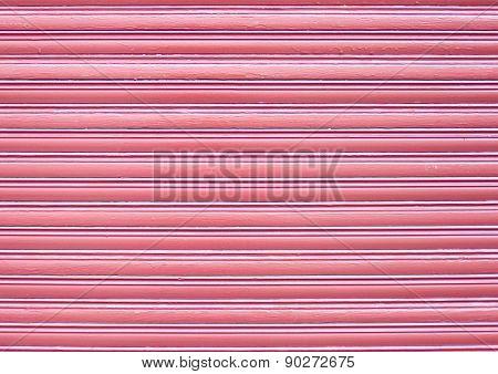 Pink wooden blind