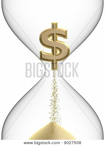 Dollar Symbol In Hourglass