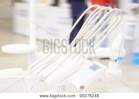 The image of a dental drilling machine