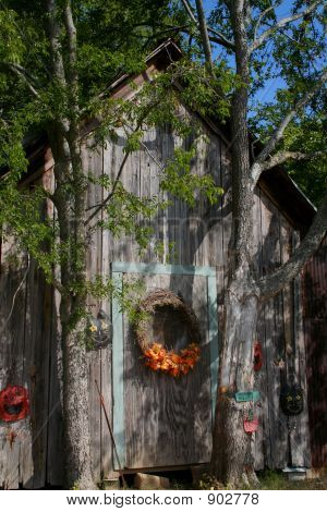 Rustic Halloween House