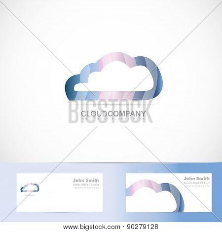 Cloud Computing Logo 3D
