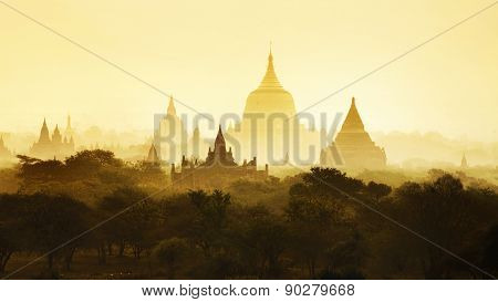 The Temples Of Bagan, Mandalay, Myanmar, Burma
