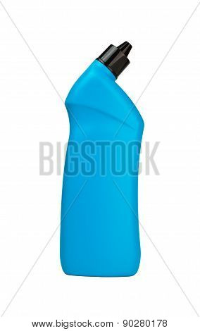 Blue Bottle Of Cleaning Supply For Toilet