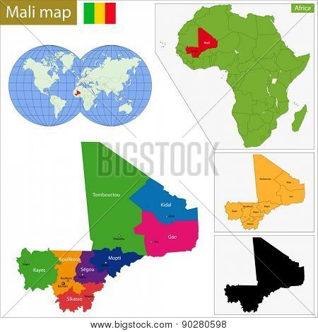 Administrative division of the Republic of Mali