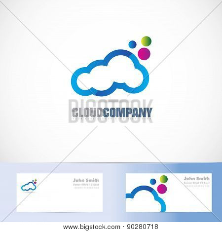 Cloud Colors Logo Design